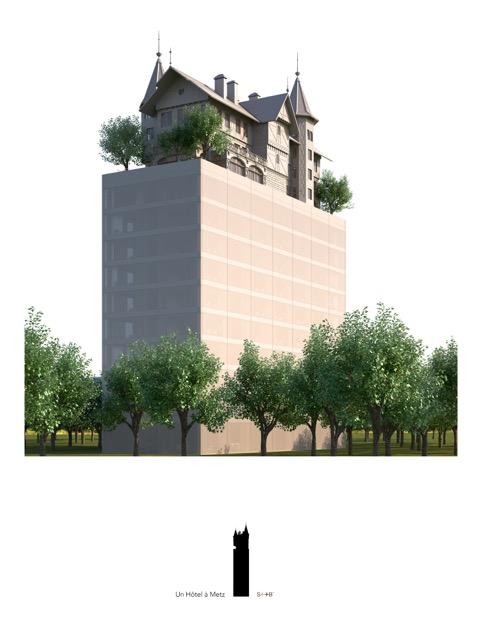 Projet Hôtel Starck - Quartier de l'Amphithéâtre à Metz