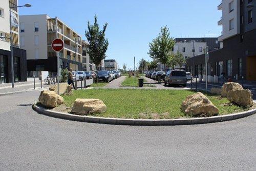 La rue de Haute Rive, artère centrale du quartier